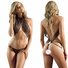 Sexy Baby Doll Lenceria Hot Leopardo Unitalla Envio Gratis
