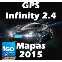 Gps Infinity 3.7 Mapas 2017 Melhor Q Igo Aviso+radares+pois