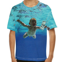 Camiseta Rock Nirvana Nevermind Infantil