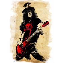 Poster Grande Slash Hd 60cmx84cm Cartaz Rock Decorativo Guns