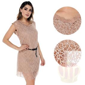 Vestido Feminino Detalhes Transparente Qualidade Fashion Top