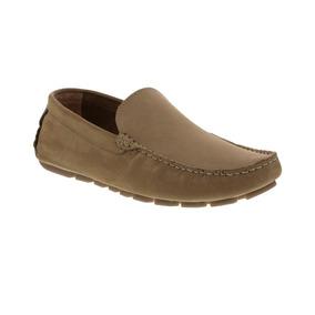 Zapato Tipo Mocasín Nubuck Atmosfera F.nebuloni