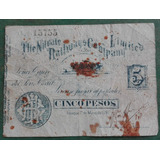 Vale Chile 5 Pesos 1891 The Nitrate Company - Vp