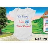 Body Infantil Personalizado Bebê Divertidos Coruja Da Titia