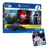 Consola Ps4 1tb Hits 3 Juegos + Juego Fifa 18 / Iprotech