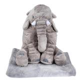Peluche Cojín Elefante Gigante Con Manta