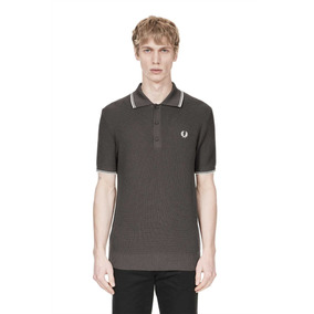 Polo Fred Perry Waffle Olive Green