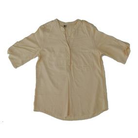 Camisola Blusa Mujer De Fibrana Amarilla