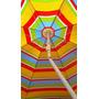 Sombrilla Plegable Playa 1,80 Ms C/codo + 2 Esterillas