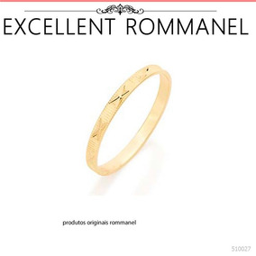 Par Alianças Namoro Compromisso Folhead Ouro Rommanel 510027
