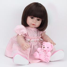 Boneca Bebê Reborn Nova Larinha + 2 Brindes
