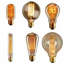 Lâmpada Vintage Retrô Filamento De Carbono - Thomas Edison