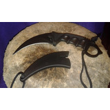 Cuchillo Karambit Tactico Negro Esmaltado Garra Puñal