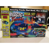 Pista Magic Tracks De 24 Ft (pies) Mega Set/3 Carros