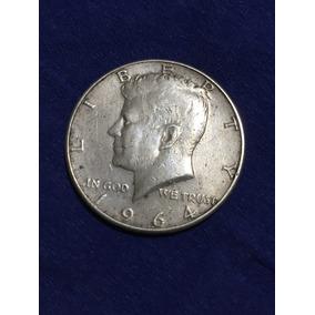 Moneda De Medio Dólar De Plata Estados Unidos Año 1964