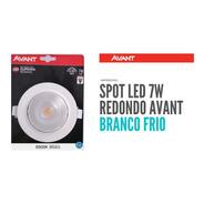 Spot Super Led Redondo 7w Avant Branco Frio