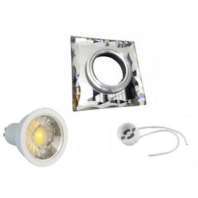 Spot Espelhado Kit Quadrado Bisote Led5w Spot/led/soquete Bf