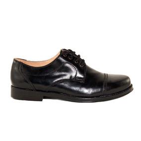 Zapato Vestir Hombre Cuero Negro Punta Redonda Marta Sixto