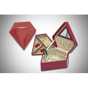 Nuevo Estuche Alhajero C/ Forma De Diamante Forrado En Cuero