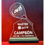 Trofeo Medalla Placa Acrilico Paddle Tenis Futbol X 15 Cm