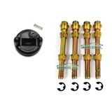 4 Pino Dobradiça Super Inferior Porta S10 Blazer + Borboleta