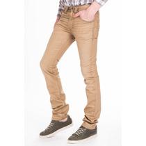 Pantalón Diesel Talla 26 Color Beige Jeans Mezclilla