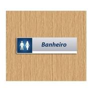 Placa Banheiro - Identificação Departamento Personalizada
