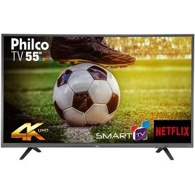 Smart Tv 55 Led Philco 4k Ultra Hd Com Wi-fi 2 Usb 3 Hdmi