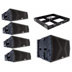 Line Array Sistema Ativo 4x Lmk-6 + 1 Lmk-15 + Bumper 4390w