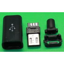 10 Pzas Plug Conector Micro Usb Macho Soldable