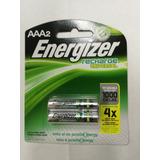Pilas Baterias Recargables Energizer Aaa X 2, 2000 Mah