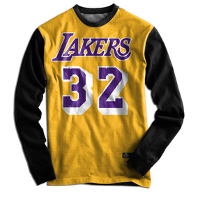 Blusa Casaco Moletom Lakers 32 Basquete Magic Johnson