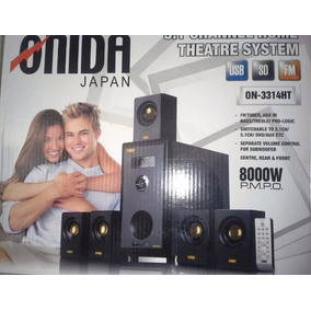 Home Theatre Onida Japan 5.1 Canales 8000w, Usb,sd, Fm