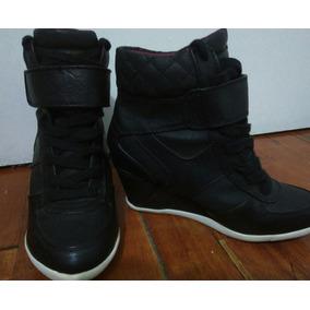 Zapatillas Con Taco Material Cuero Oferta\2 Modelos