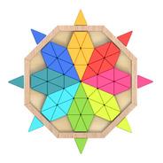 Puzzle Mandala Octágono De Colores Y Madera