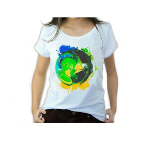 Camisetas Femininas Copa Do Mundo Brasil Bola Iaia Brasil