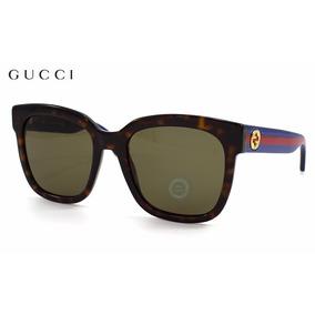 Lentes Gucci Gg0034s 004 Havana/blue/red - Brown Original