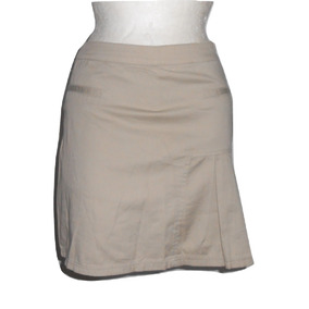 French Toast Falda Short Beige Tableado A Un Lado Talla 7
