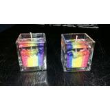 Velas Gel Souvenir Bandera Gay Vidrio Cristal