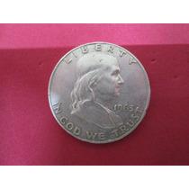 Moneda Plata Ley .900 Medio Dollar Antigua 1963 Envio Gratis