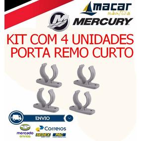 Kit Com 4 Suporte / Porta Remo Curto Barco Lanchas Caiaque