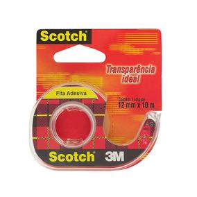 Fita Adesiva Scotch Transparente Com Suporte 12mm X 10m 3m