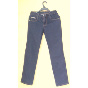 Pantalón Jean Azul Marino Talla 10 Basta Recta Con Bolsillos
