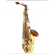 Saxofone Alto Jahnke Mib Dourado Original Novo -jash001 Top-