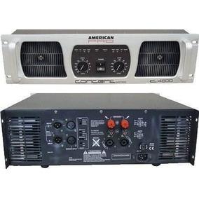 Potencia American Pro Concert C-3600 W Amplificador Dj Envio