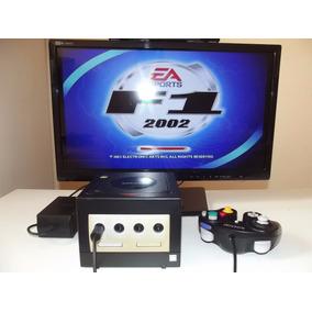 Nintendo Game Cube Preto ¬ + Controle + Fonte + Cabo Av + Jo