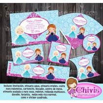 Kit Cumpleaños Editables Frozen Para Imprimir