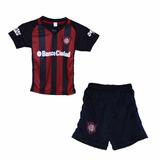 Mini Kit Camiseta San Lorenzo + Short Niños 2017 Titular