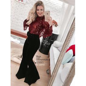 Calça Flare Veludo - Mc Company Moda Feminina