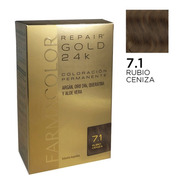 Farmacolor R Gold Rub. Ceniz N° 7.1 X 1 Estuche. De Fábrica.